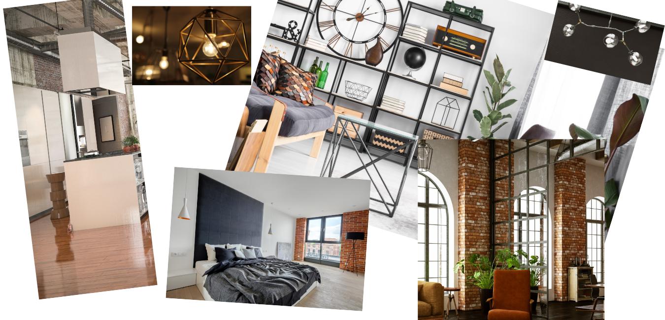 Zona Living & Cucina. Stile industrial e contemporaneo